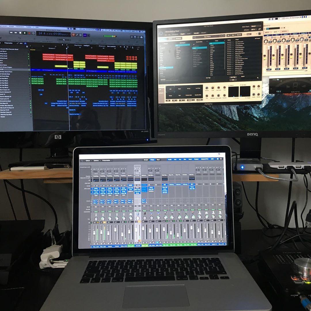 William Baldé studio work in progress !!! @williambalde_officiel @jeanlassallette
